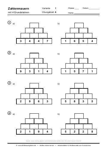arbeitsblaetter mathe klasse  zum ausdrucken