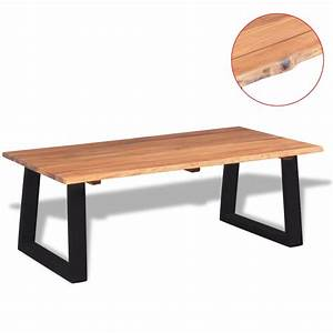 vidaxl coffee table solid acacia wood 110x60x40 cm With table basse largeur 40 cm