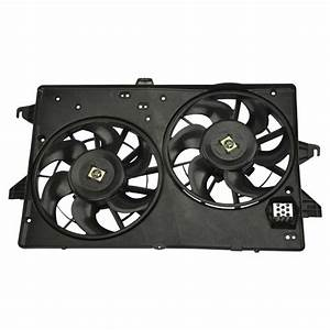 Dual Radiator A  C Air Conditioning Cooling Fan For Contour