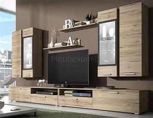 Meuble Design Tv Mural : meuble tv mural ensemble design bois sanremo livo ~ Teatrodelosmanantiales.com Idées de Décoration