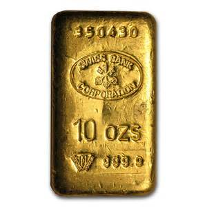 10 oz Gold Bar - Swiss Bank Corporation | All Other Brands ...