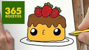 COMO DIBUJAR TARTA KAWAII PASO A PASO Dibujos kawaii faciles How to draw a cake