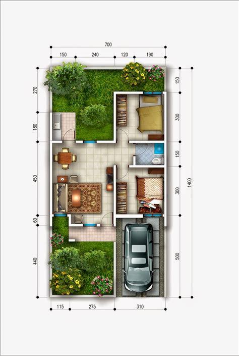 denah rumah type  minimalis griya inspiratif