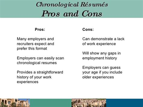 Chronological Resume Pros And Cons r 233 sum 233 writing presentation