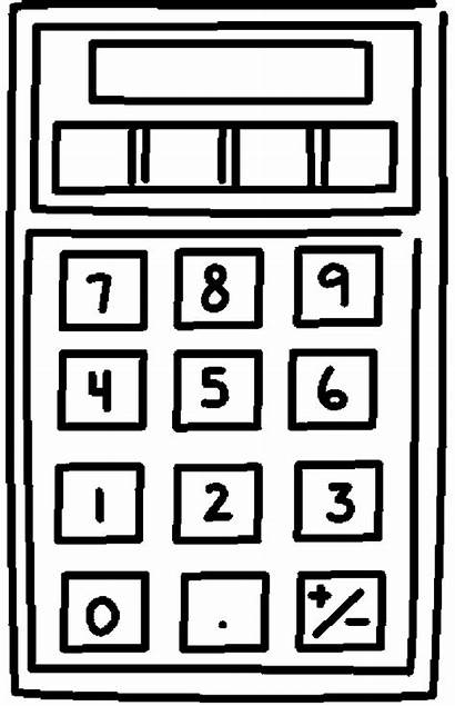 Calculator Coloring Pages Printable Supplies Things Coloringpages101
