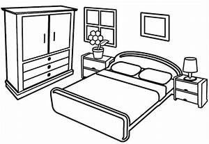 Beautiful and Modern Bedroom Coloring Pages - Coloring Pages
