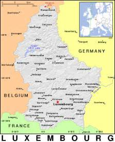 Luxembourg Country Map
