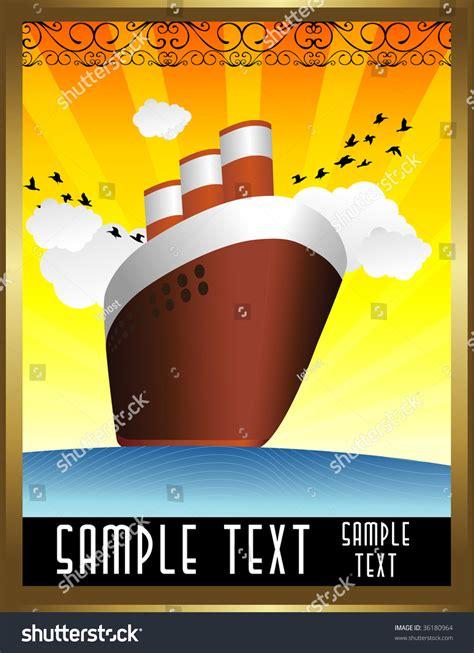 Art Deco Boat Poster by Art Deco Boat Vector Stock Vector 36180964 Shutterstock