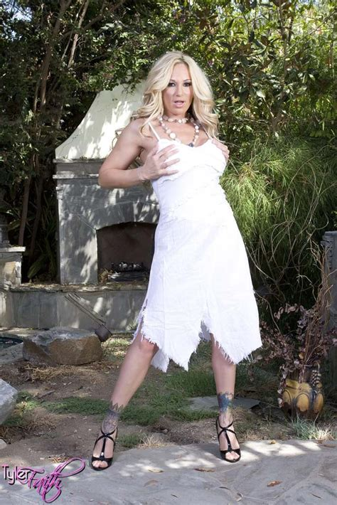 Tyler Faith In A White Dress Touching Her Wet Cunt