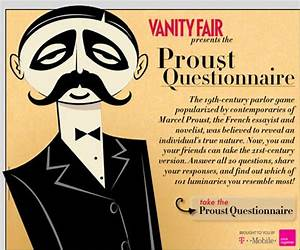 The Interactive Proust Questionnaire on Vanity Fair ...