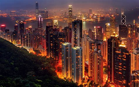 night time city lights wallpaper wallpapercare