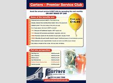 Carters Premier Service Club Carters Of Chapeltown