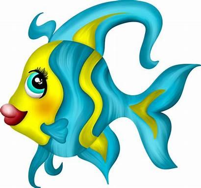 Mermaid Fish Clipart Fishes Sea Sirenita Cartoon