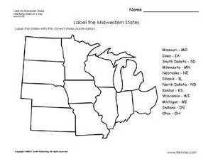 Midwest States and Capitals Worksheet