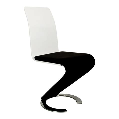 chaise design blanc deco in table 6 chaises design noir et blanc elyse