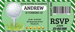 Avengers Invitation Design Free Golf Ticket Birthday Invitation Templates Psd