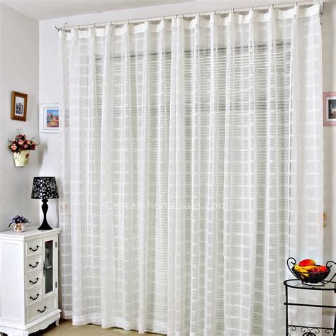 white living room sheer curtains