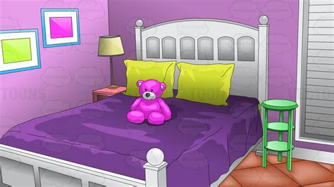 Young Girls Bedroom Background  Clipart By Vector Toons