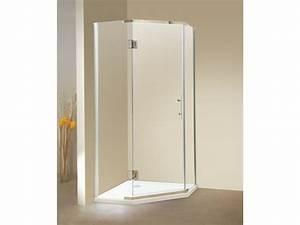 paroi de douche d39angle porte battante receveur inclus With porte douche angle