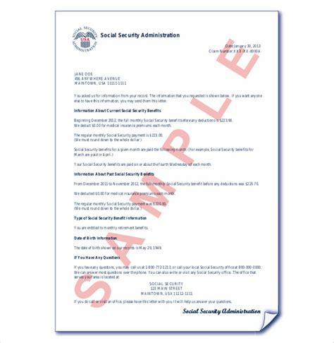 social security letter 13 award letter templates pdf doc free premium