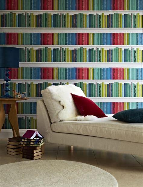 renovation cuir canapé papier peint trompe l œil bibliothèque pour l 39 intérieur