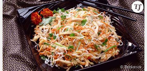 recette de cuisine regime recette minceur trois idées de salade au poulet light