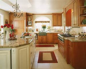 Kitchen examples traditional kitchen for Kitchen colors with white cabinets with cactus print wall art