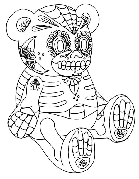 Free Color In Sugar Skull Sugar Skull Coloring Pages