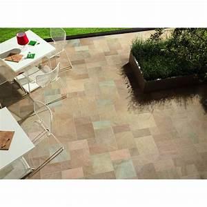 carrelage exterieur effet pierre pour terrasse 30x30 beige With carrelage 30x30