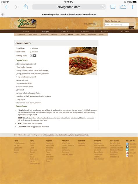 Check out these outstanding olive garden desserts menu as well as let us know what you think. Olive Garden Siena sauce   Dessert appetizers, Recipes, Copycat recipes