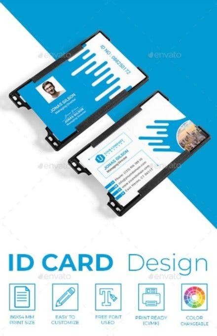 teacher id card templates illustrator psd ms word