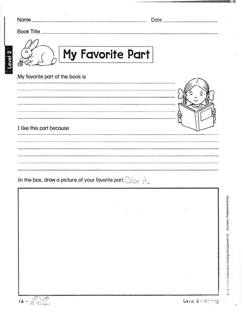 2nd Grade Book Report Forms by 16 Best Images Of Book Report Worksheets Reading