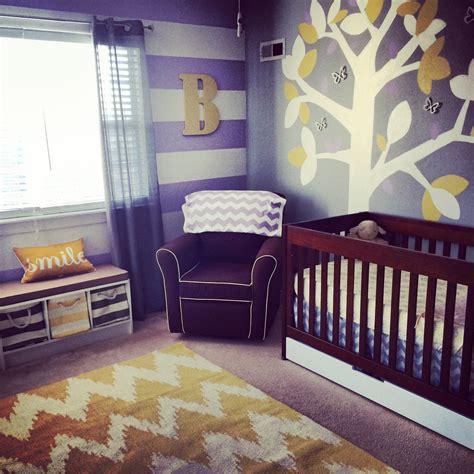blake aubreys purple grey  yellow nursery project