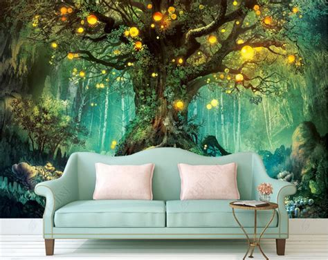 beautiful dream  photo wallpapers forest  wallpaper