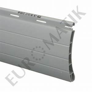 Lame Volet Roulant Pvc : lame pvc double parois 55 mm ajour e gris pour volet ~ Dailycaller-alerts.com Idées de Décoration