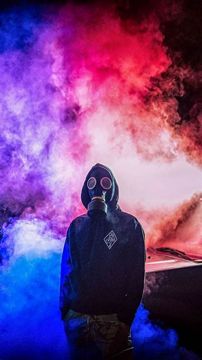 Mask Smoke Gas Colorful Background Iphone 6s