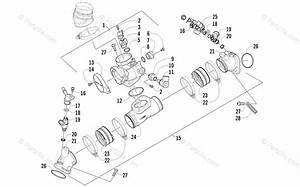 Arctic Cat Side By Side 2010 Oem Parts Diagram For Throttle Body Assembly