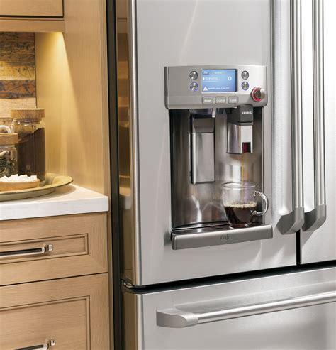 ge cafe series energy star  cu ft french door refrigerator  keurig  cup brewing