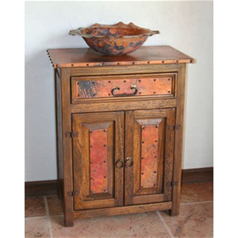 copper bathroom vanities  copper sinks   rustic
