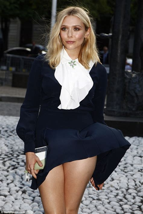 Elizabeth Olsen Handles The Moment Wind Blows Up Her Skirt ...