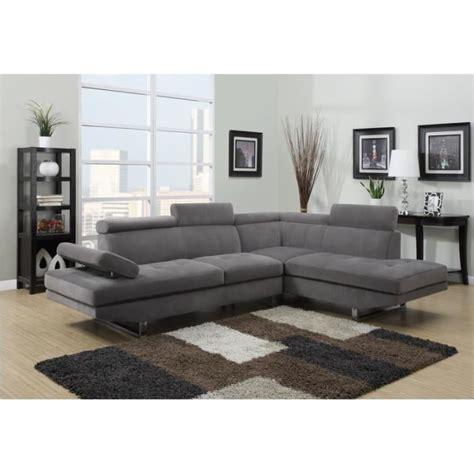 canapé d angle gris tissu canapé d 39 angle design tissu rubic gris achat vente