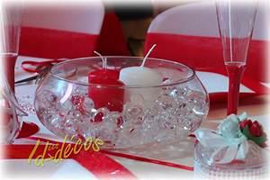 Deco Centre De Table Mariage : decoration de table pour mariage rouge et blanc le mariage ~ Teatrodelosmanantiales.com Idées de Décoration