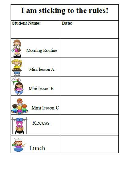 preschool behavior plan search results for daily behavior chart template 611