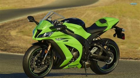 Kawasaki Ninja Zx 10r, Motorcycle, Green, Superbike Hd