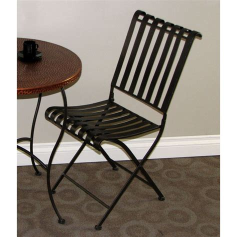 rolled metal folding chair powder coated brown dcg stores