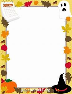 Printable October border. Use the border in Microsoft Word ...