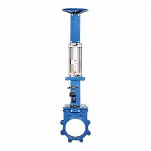Wellcast Pneumatic Operated Knife Edge Gate Valve With