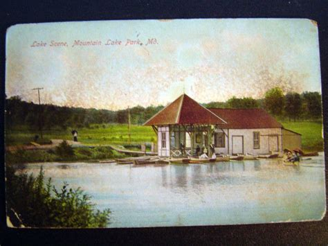 Boat Shipping Maryland by Mountain Lake Park Md Boat House Postcard 1908 Ebay