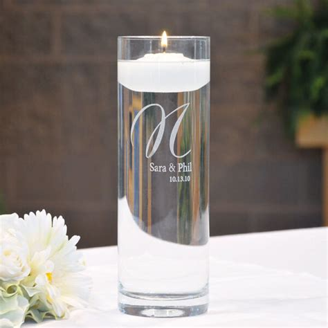 Wedding Unity Floating Candle Personalized Memorial