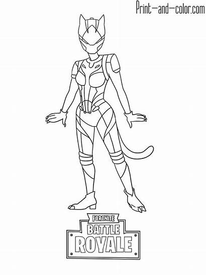 Fortnite Coloring Pages Sheets Skins Colouring Lynx